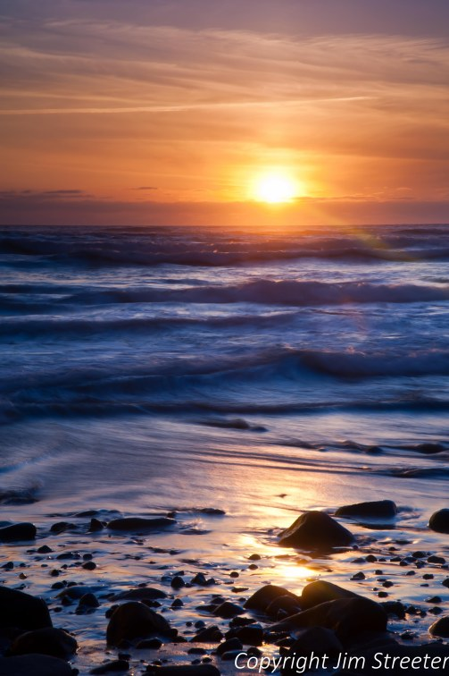 Sunset at Cape Lookout State Park along the northern Oregon coast.