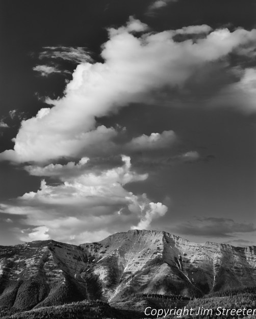 Looking across the Seeley-Swan valley at cloud formations over the Swan Range in western Montana.