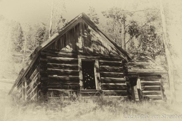 A cabin still stands at the old Cable mine site outside of Anaconda, Montana.