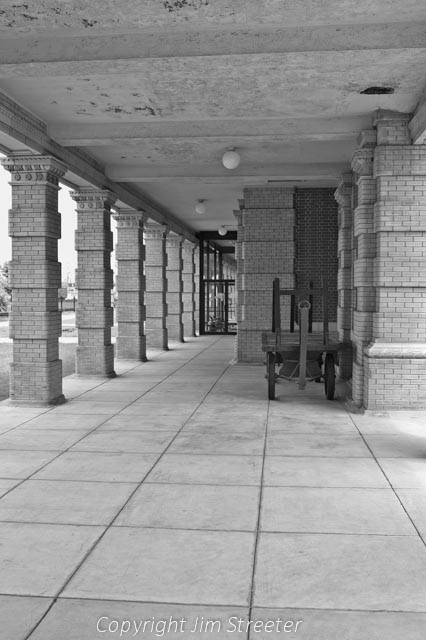 A corridor in the historic Livingston Depot, a restored 1902 Northern Pacific Railroad (NP) train station in Livingston, Montana.