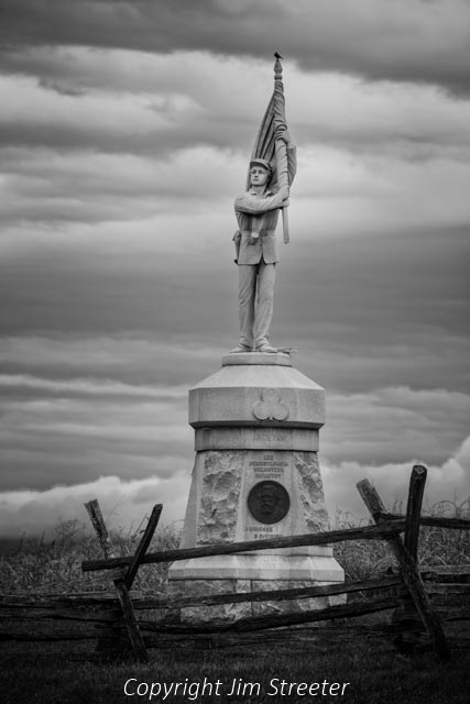This monument, found along Bloody Lane on the Antietam battlefield is dedicated to the 132nd Pennsylvania Volunteer Infantry. The Battle of Antietam, fought on September 17, 1862, was the bloodiest day not only of the American Civil war but of any American war. It was fought outside of Sharpsburg, Marylnad along Antietam Creek and ended confedera general Robert E. Lee's first invation of a northern state. The battlefield itself is considered the best-preserved of all Civil War battlefields.