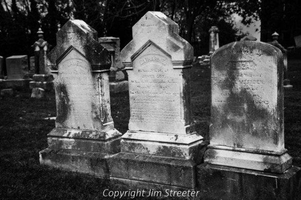Headstones from 1883 sit in the cemetary at Harpers Ferry, West Virginia. The town was the site of the Battle of Harpers Ferry, fought September 12-15, just prior to the pivotal Battle of Antietam outside of nearby Sharpsburg, Maryland.