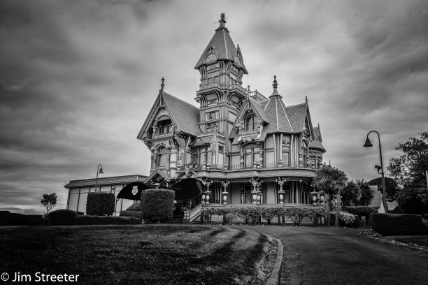 "The Carson Mansion is a large Victorian house located in Old Town, Eureka, California. Regarded as one of the highest executions of American Queen Anne Style architecture,[2]:33 the house is ""considered the most grand Victorian home in America."